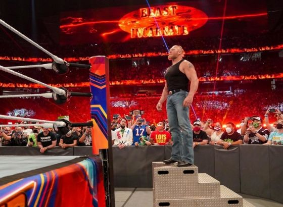 """Kurt Angle: Brock Lesnar's WWE Return """"Took Away Some Of The Buzz"""" From CM Punk's AEW Debut"""