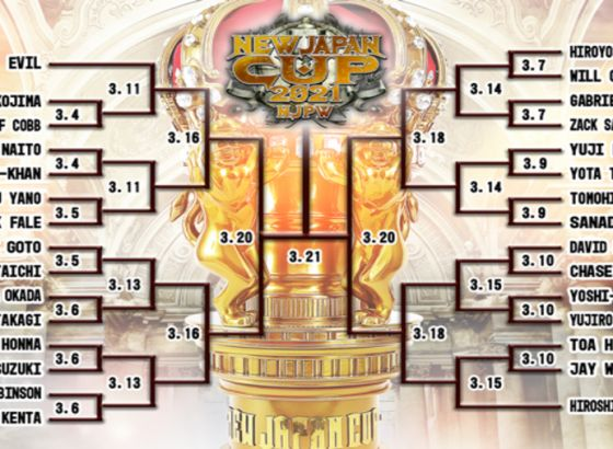 New Japan Cup 2021 Results - March 15, 2021: Jay White Vs. Hiroshi Tanahashi, YOSHI-HASHI Vs. David Finlay