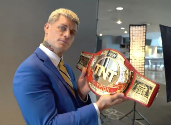 Finished AEW TNT Championship Belt Revealed