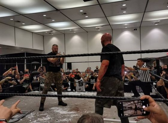 Jon Moxley Confronts Nick Gage At GCW Draft Day