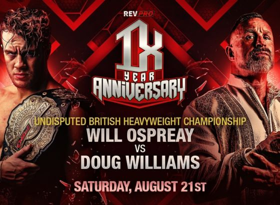 Will Ospreay To Defend British Heavyweight Title Against Doug Williams At RevPro 9-Year Anniversary Show