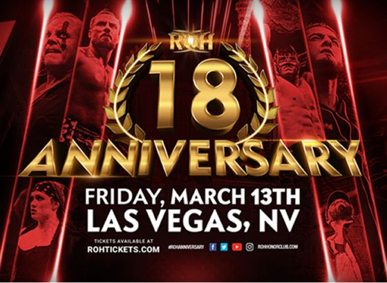 ROH Announce Two Shows To Celebrate 18th Anniversary In March