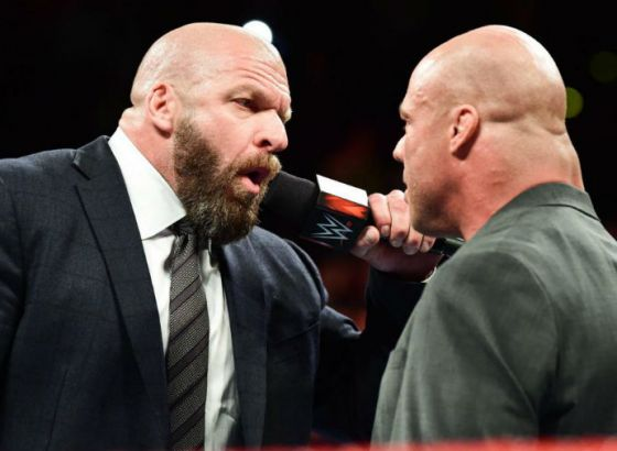 Kurt Angle Comments on Triple H Reportedly Burying Him In WWE