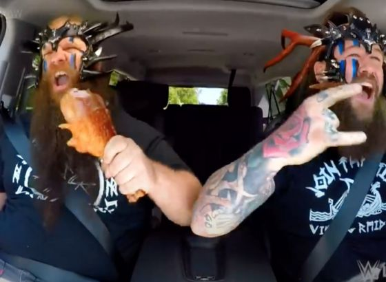 The Viking Raiders Do Carpool Karaoke On WWE Raw