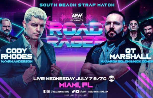 Cody Rhodes-QT Marshall Strap Match Announced For July 7 Dynamite