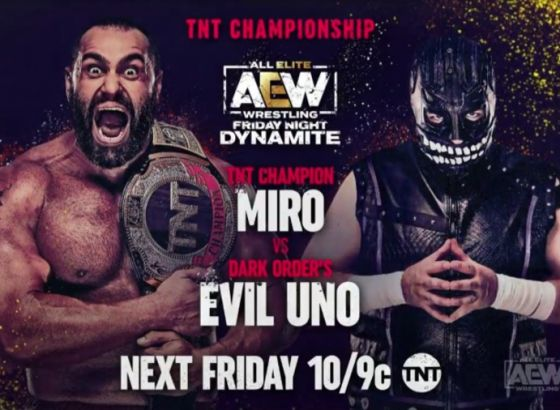 Evil Uno Challenges Miro For TNT Title On 6/11 AEW Dynamite