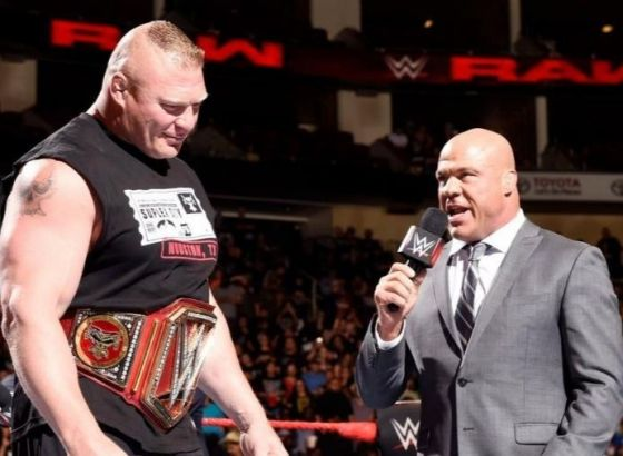 Kurt Angle Comments On Possibility Of Brock Lesnar Joining AEW