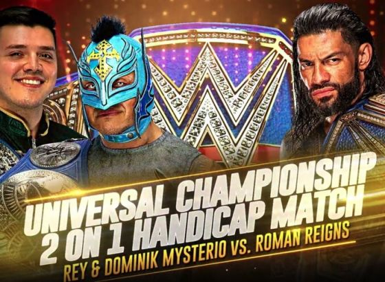 WWE Advertising Universal Championship Handicap Match For Live Events