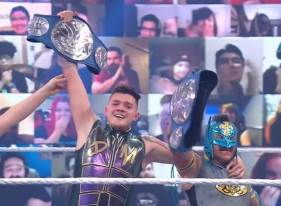 Rey And Dominik Mysterio Capture WWE SmackDown Tag Team Titles At WrestleMania Backlash