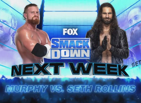 Seth Rollins Vs. Murphy Set For Next Week's WWE SmackDown