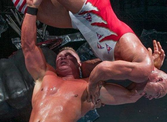 """Kurt Angle Thought Brock Lesnar """"Had Died"""" During WWE WrestleMania 19 Match"""