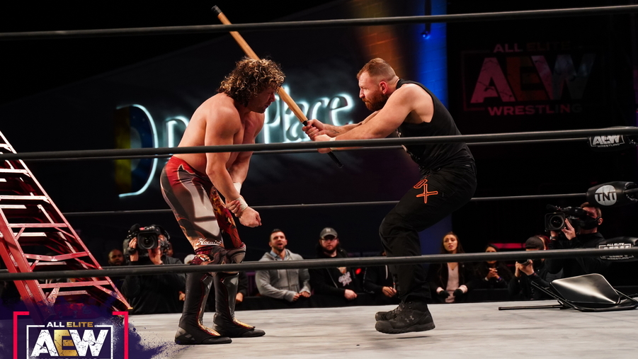 Aew main event moxley hits omega