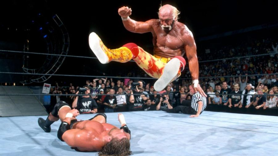 Hulk hogan triple h backlash 2002 leg drop