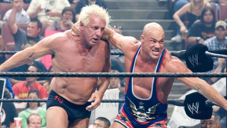 Ric flair kurt angle wwe raw 2005